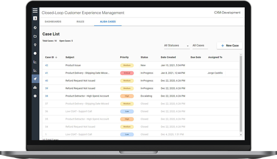 Alida-CXM-Case-Management-Screenshot