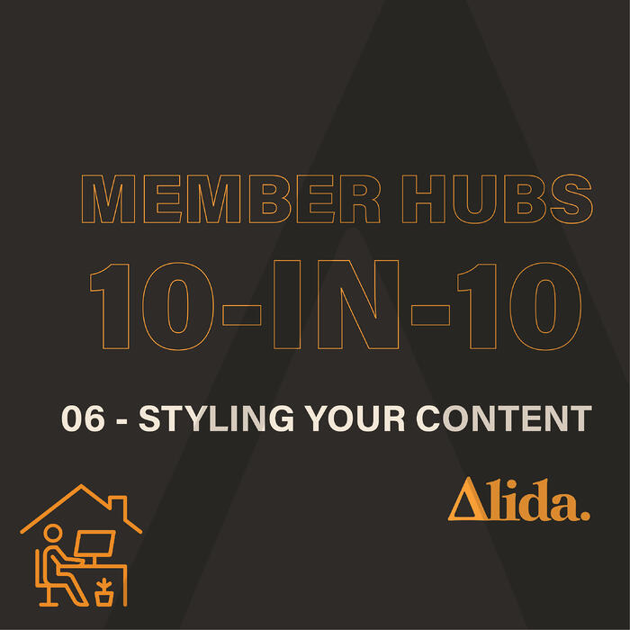 Member Hubs: Styling Your Member Hub Posts